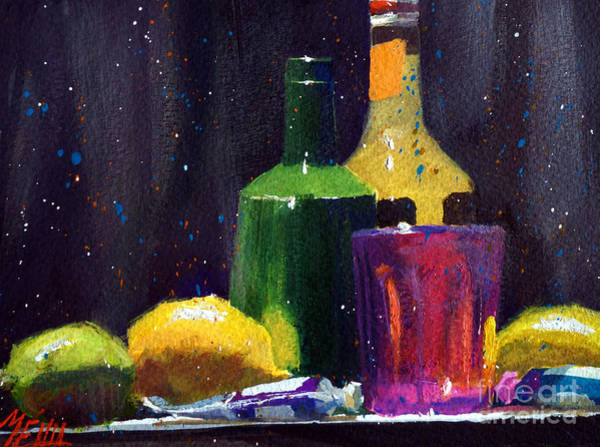 Guache Painting - Soda And Lemons #2 by Andre MEHU