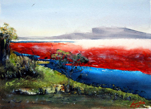Ashes Painting - Soda Ash Country by James Nyika