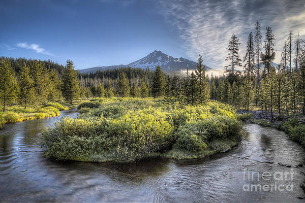 Scenic Byway Photograph - Soda Creek And Broken Top by Twenty Two North Photography
