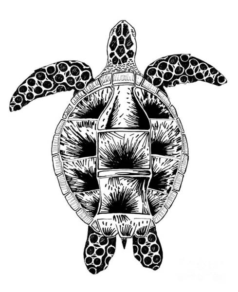 Wall Art - Drawing - Soda Turtle Sea Turtle Great Tshirt Image by Adam Long