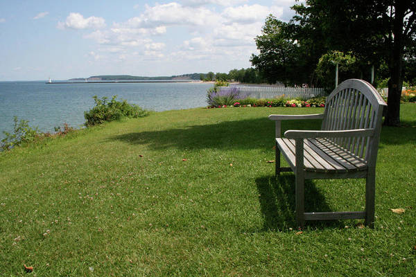 Photograph - Sodus Bench by Dylan Punke
