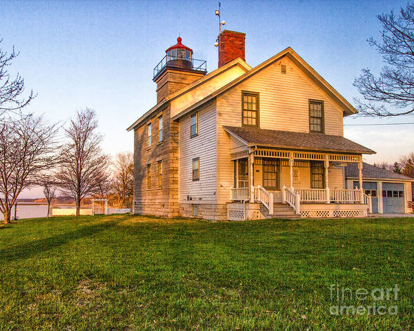 Photograph - Sodus Point Lighthouse And Museum by Rod Best