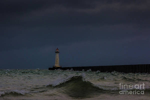 Photograph - Sodus Point Outer Light by Roger Monahan
