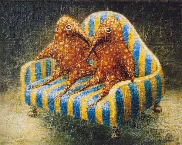 Birdman Painting - Sofa by Lolita Bronzini