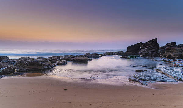 Killcare Photograph - Soft And Rocky Dawn Seascape by Merrillie Redden