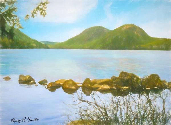 Soft Art Photograph Jordan Pond Acadia Nat. Park Maine Art Print