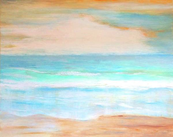 Painting - Soft Beachy Feel Abstract by Carlin Blahnik CarlinArtWatercolor