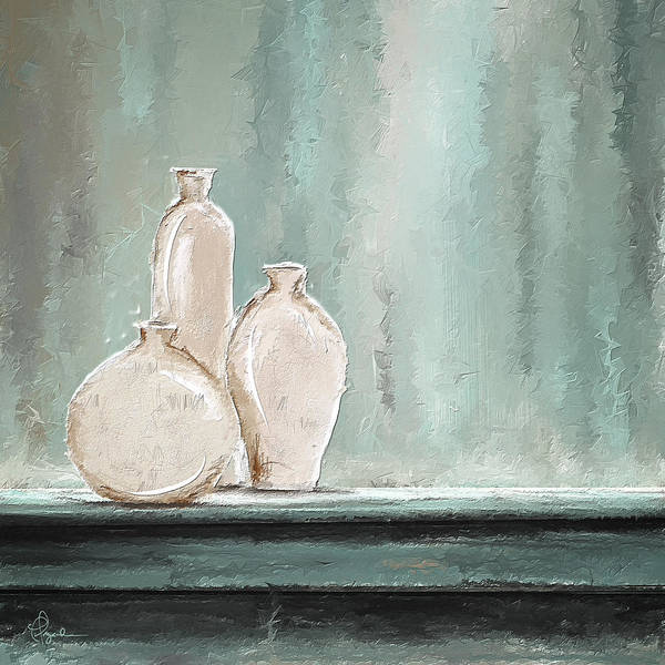 Painting - Soft Blue And Gray Art by Lourry Legarde