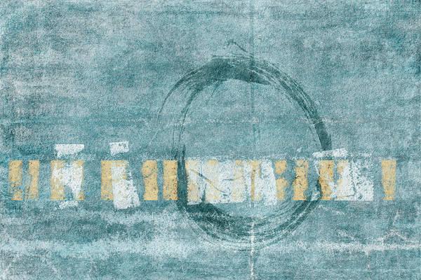 Soft Blue Enso Circle Art Print