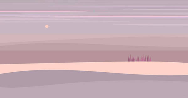 Digital Art - Soft Colored Landscape by Val Arie