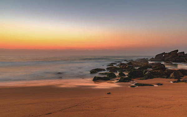 Killcare Photograph - Soft Dawn Seascape With Rocks by Merrillie Redden