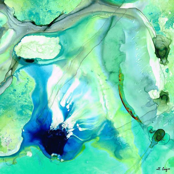 Painting - Soft Green Art - Gentle Guidance - Sharon Cummings by Sharon Cummings