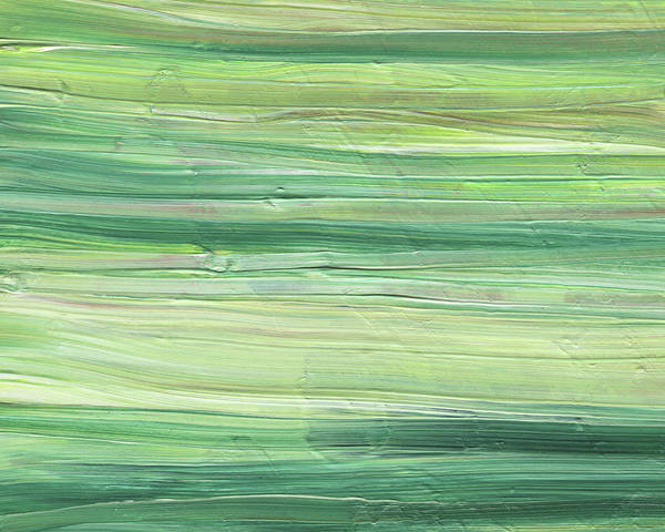 Painting - Soft Green Organic Abstafor Interior Decor Viii by Irina Sztukowski
