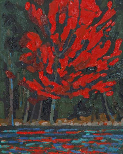 Wall Art - Painting - Soft Maple Shore by Phil Chadwick