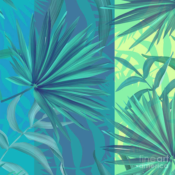 Leaf Painting - Soft Tropic  by Mark Ashkenazi