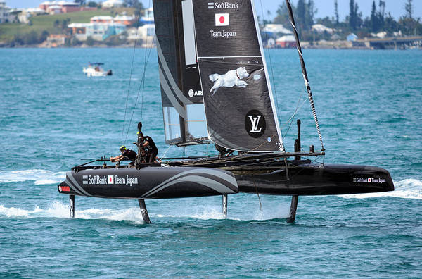 Ac45 Photograph - Softbank On The Foils by Chris Beard