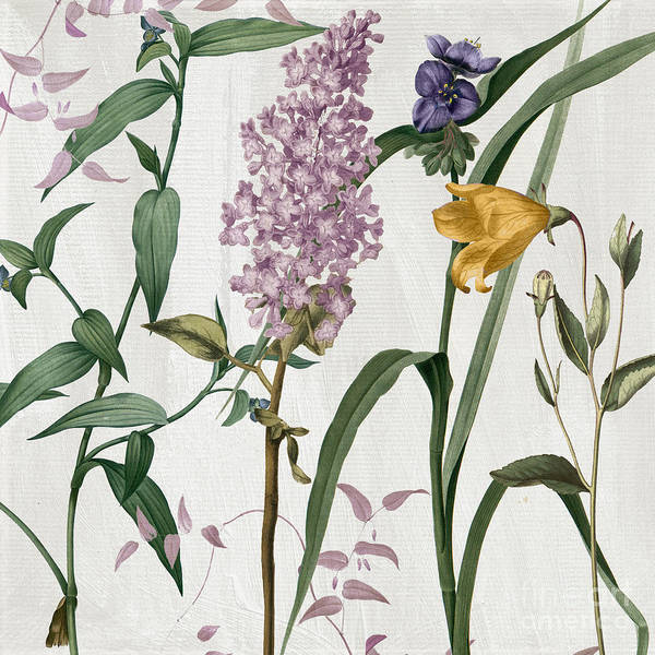 Subtle Painting - Softly Lilacs And Crocus by Mindy Sommers