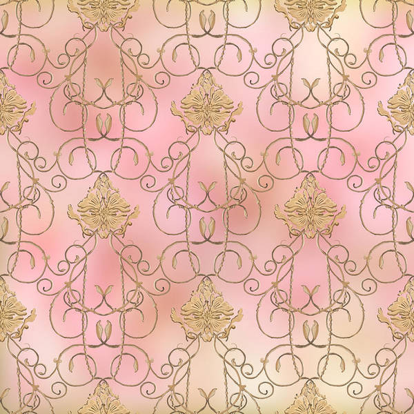 Medallion Wall Art - Painting - Softly Summer - French Parisian Apartment Damask by Audrey Jeanne Roberts
