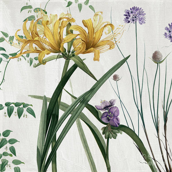 Subtle Painting - Softly Yellow Lilies  by Mindy Sommers