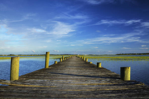 Lowcountry Photograph - Sol Legare Wooden Dock Vanishing Point by Dustin K Ryan