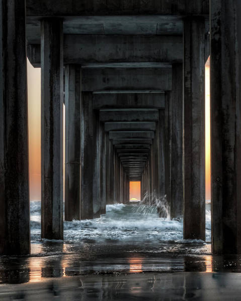 Scripps Pier Photograph - Solar Alignment by Creigh Photography