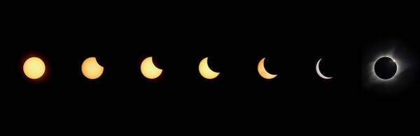 Photograph - Solar Eclipse 2017 Sequence by Van Sutherland