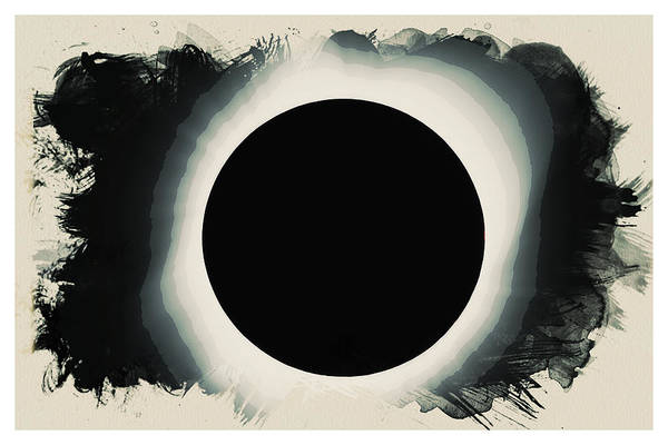Painting - Solar Eclipse 2017 Watercolor by Celestial Images