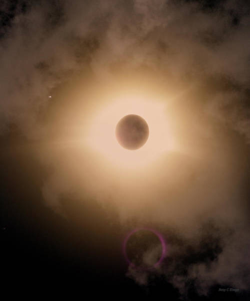 Wall Art - Photograph - Solar Eclipse Catch The Moment by Betsy Knapp