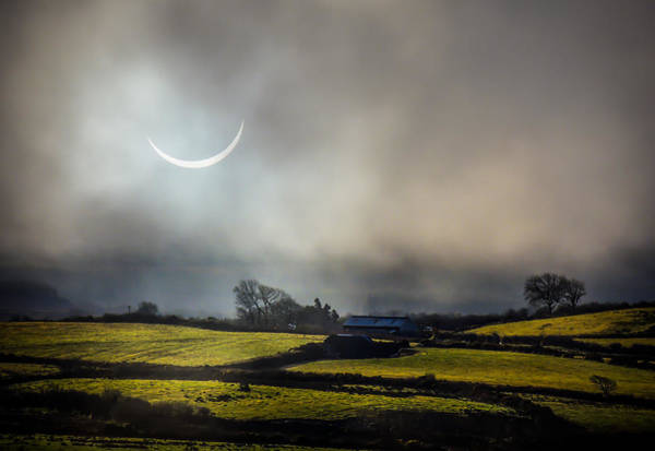 Photograph - Solar Eclipse Over County Clare Countryside by James Truett