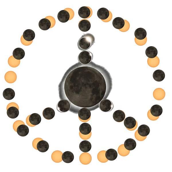Digital Art - Solar Eclipse Peace On Earth by OLena Art Brand
