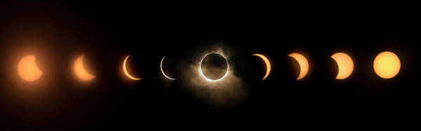 Photograph - Solar Eclipse Progression by Ryan Heffron
