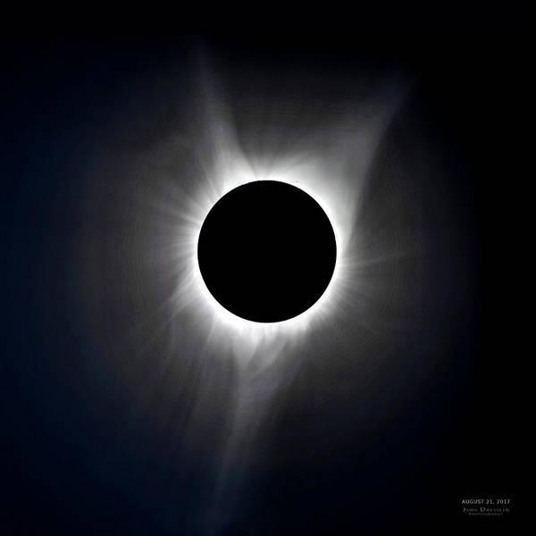 Photograph - Solar Eclipse Totality Corona by Judi Dressler