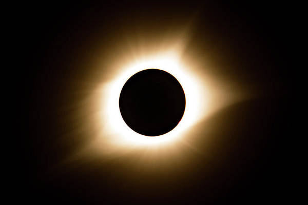 Photograph - Solar Eclipse by Wesley Aston