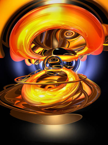 Liquid Digital Art - Solar Flare Abstract by Alexander Butler
