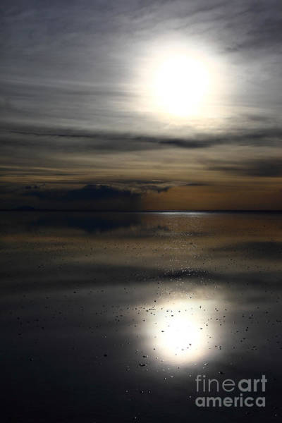 Photograph - Solar Reflections On The Salar De Uyuni by James Brunker