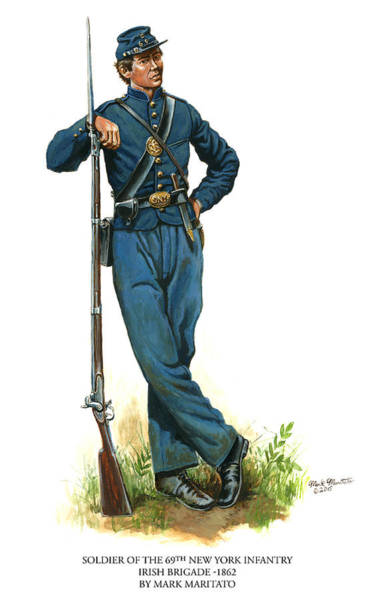 Wall Art - Painting - Soldier Of The 69th New York Infantry - Irish Brigade by Mark Maritato