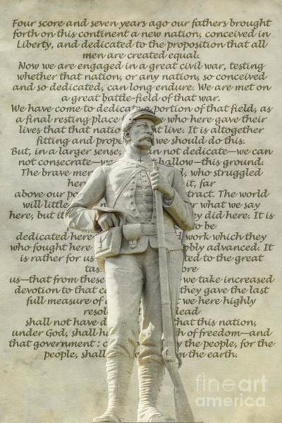 Soldier Statue Gettysburg Address  Art Print