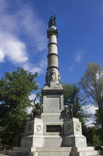 Photograph - Soldiers And Sailors Monument - Boston by Carlos Diaz