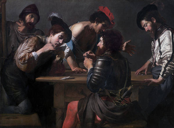 Painting - Soldiers Playing Cards And Dice by Valentin de Boulogne