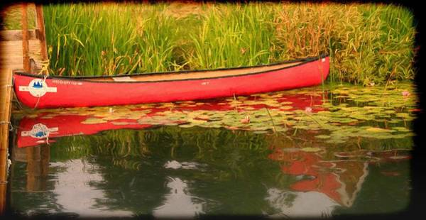 Photograph - Solemn Red Canoe by Ola Allen