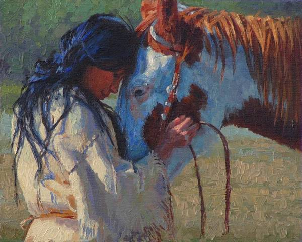 Lakota Painting - Solace by Jim Clements