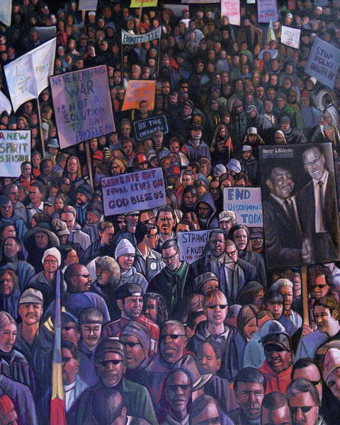 Marching Painting - Solidarity by Curtis James