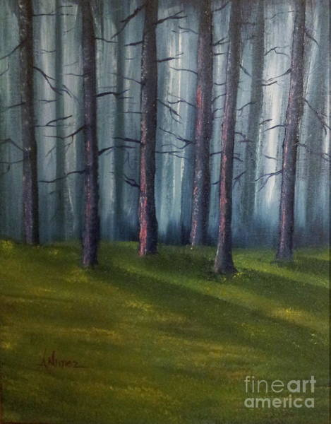 Barley Painting - Solitaire Backwoods by Anthony Nunez