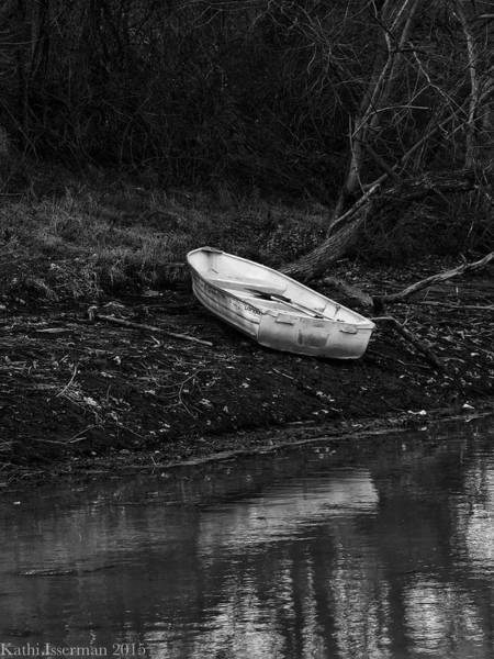 Red Wall Art - Photograph - Solitary Boat I by Kathi Isserman