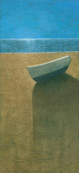 Wall Art - Painting - Solitary Boat by Steve Mitchell