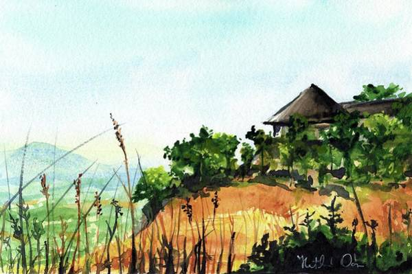 Spectacular Painting - Solitary Cottage In Malawi by Dora Hathazi Mendes