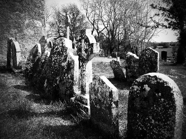 Timeworn Photograph - Solitary Cross At Fuerty Cemetery Roscommon Irenand by Teresa Mucha