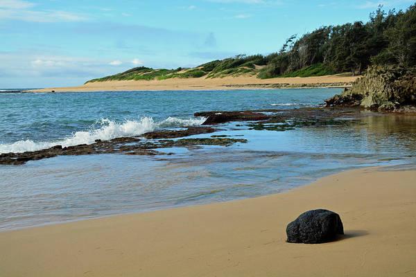 Photograph - Solitary Rock On Mahaulepu Beach Hawaii by Bruce Gourley