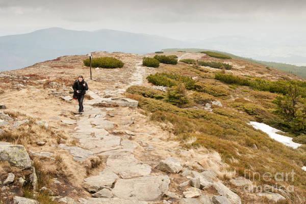 Wall Art - Photograph - Solitary Tourist Trekking by Arletta Cwalina