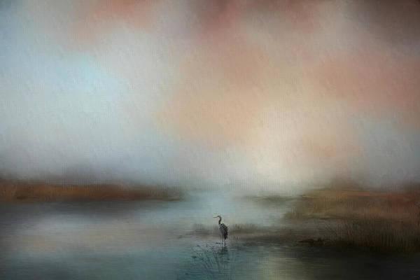 Photograph - Solitude Blue Heron Landscape Art by Jai Johnson